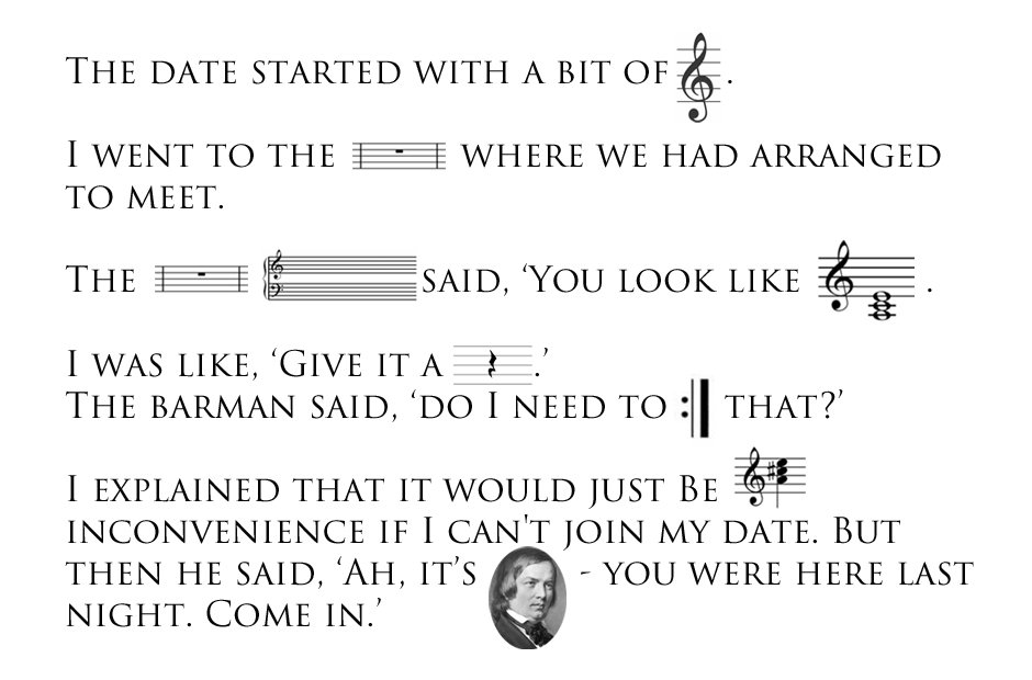 A musician went on a date    (a story for music nerds