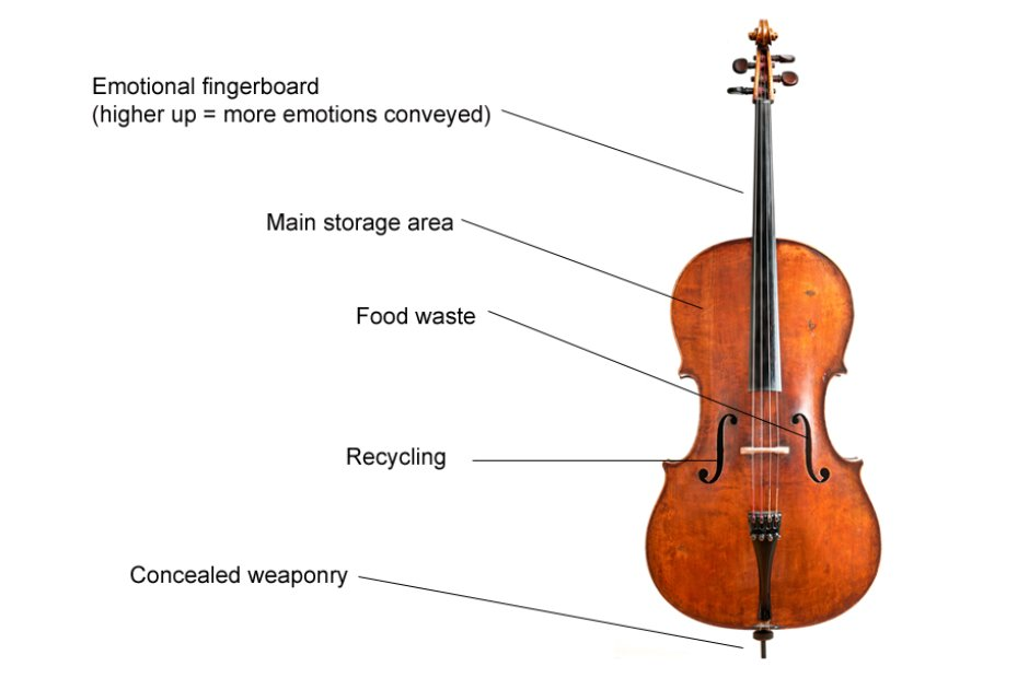Cello View on Trumpet Parts Diagram