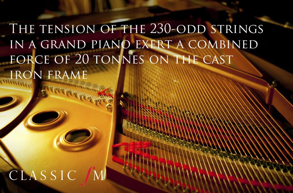 Classical music facts - piano tension