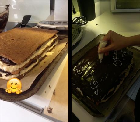 Opera cake icing