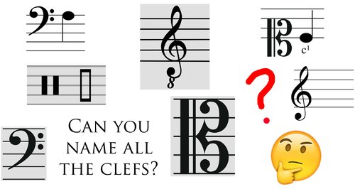musicians have invented a whole array of clefs to help make reading music easier depending on how low or high youre playingsinging