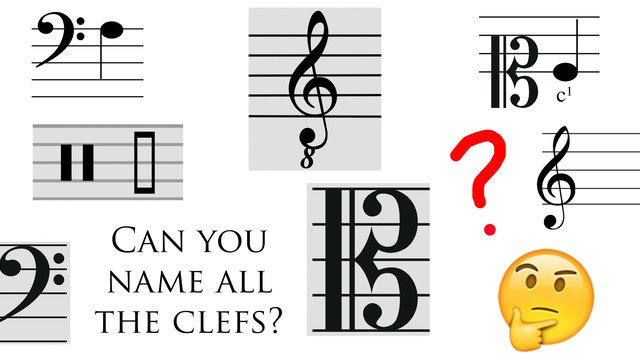 can you name all these musical clefs classic fm