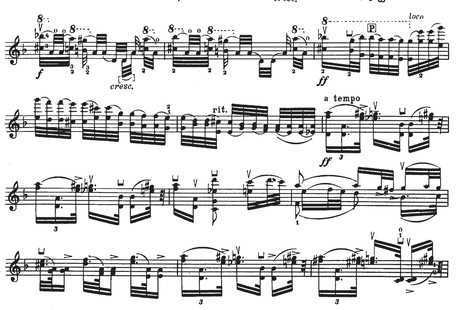 This frankly terrifying solo violin piece is surely one of
