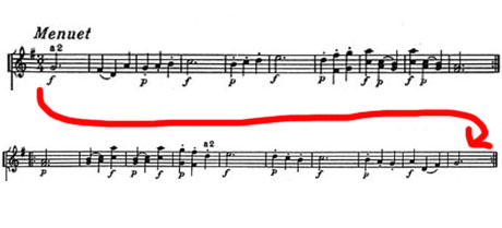 Haydn Palindrome symphony