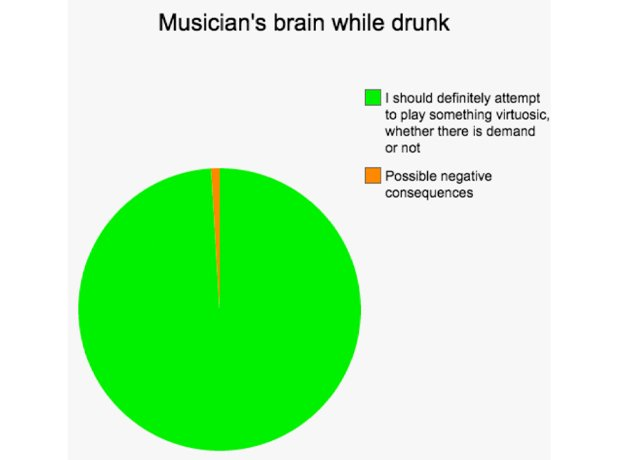 musician pie charts