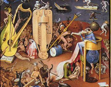 Hieronymus Bosch wrote some music on a naked bum in The