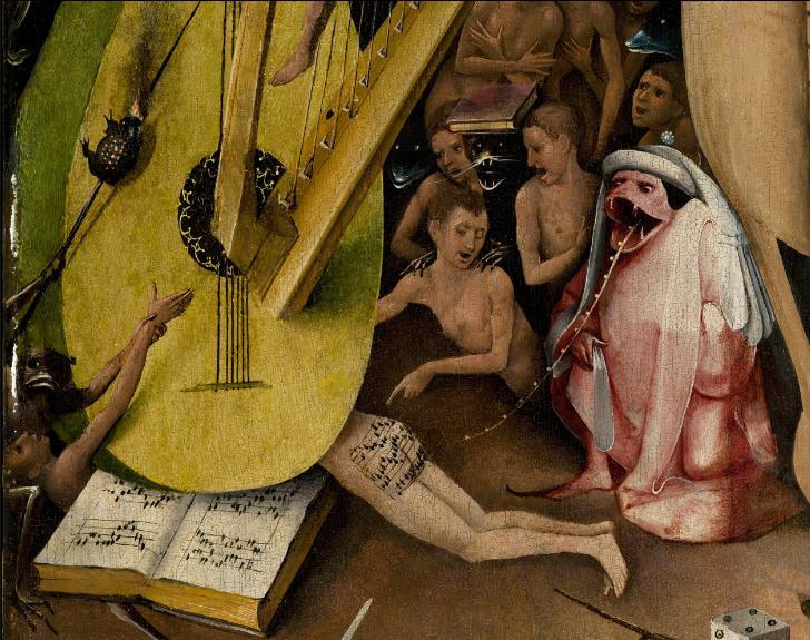 Hieronymus Bosch music close-up