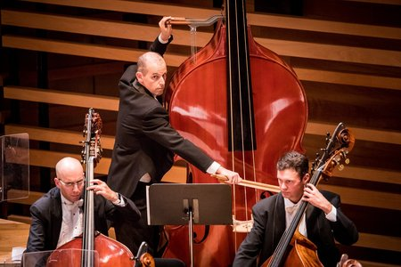 Montreal Symphony Orchestra's octobass