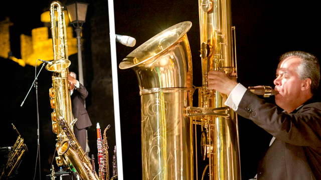 This is the largest playable saxophone in the world, and it sounds brilliantly monstrous