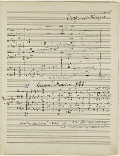 Mahler Second Symphony manuscript