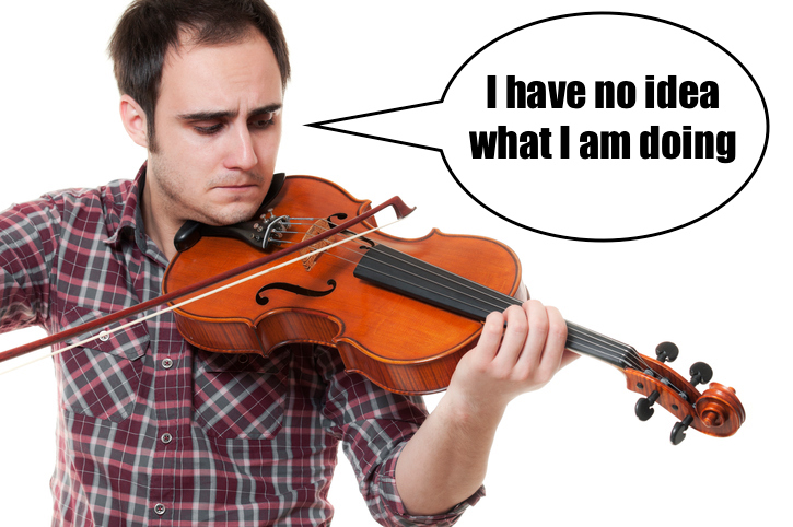 i have no idea what i am doing violin