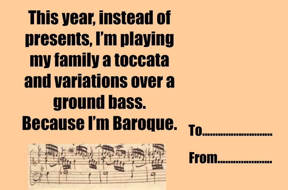 Baroque - Christmas greeting cards for music geeks - Classic FM