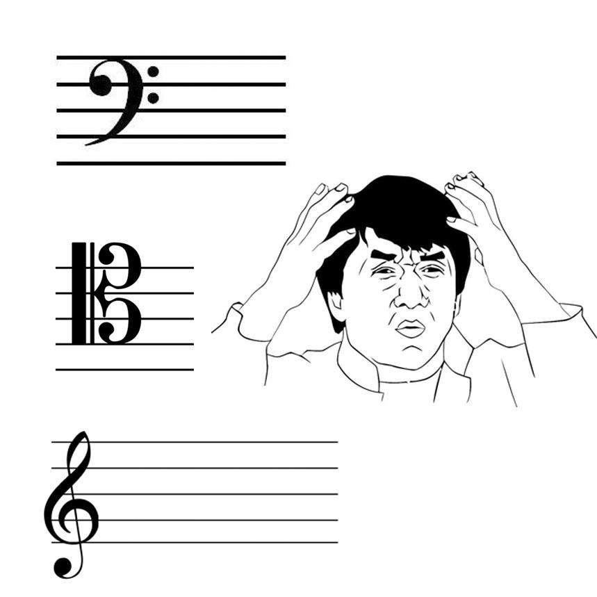 Cello clefs