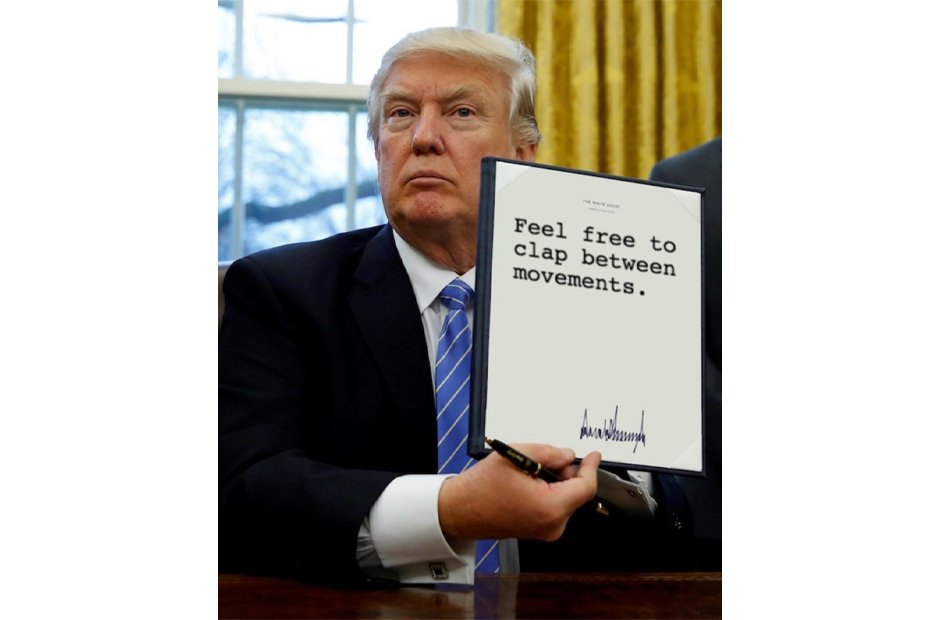 Donald Trump's executive orders for musicians