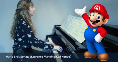 The Super Mario Brothers theme in the style of Mozart and