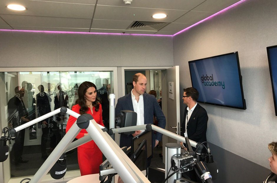 Duke and Duchess of Cambridge visit the studios at