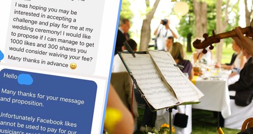 A musician was asked to play for free in return for Facebook