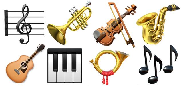 Instrument emojis
