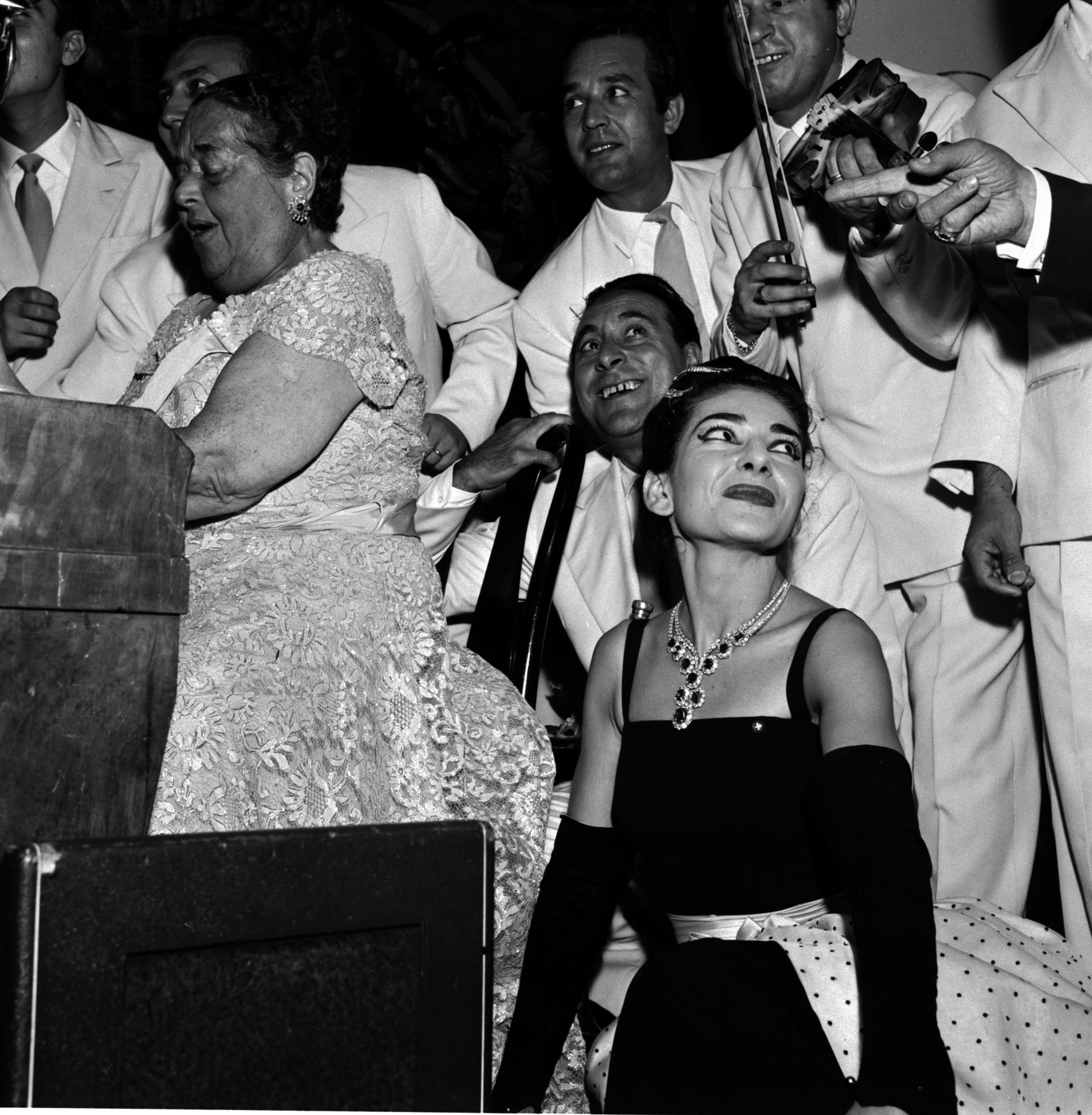 Maria Callas at a Party in Venice in 1957