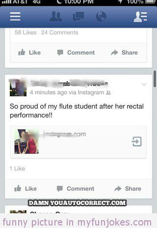 flute recital autocorrect