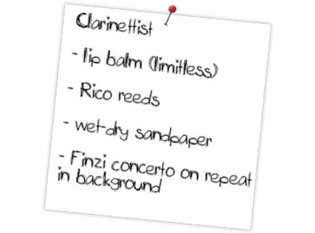 Clarinet tour rider