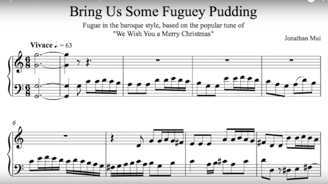 We Wish You A Merry Christmas Fugue