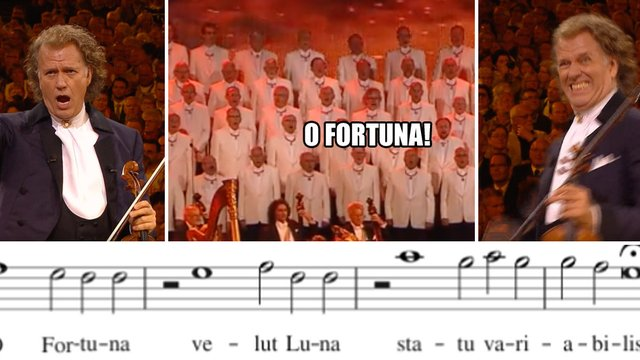 What are the lyrics to 'O Fortuna' from Carmina Burana