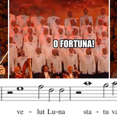What are the lyrics to 'O Fortuna' from Carmina Burana