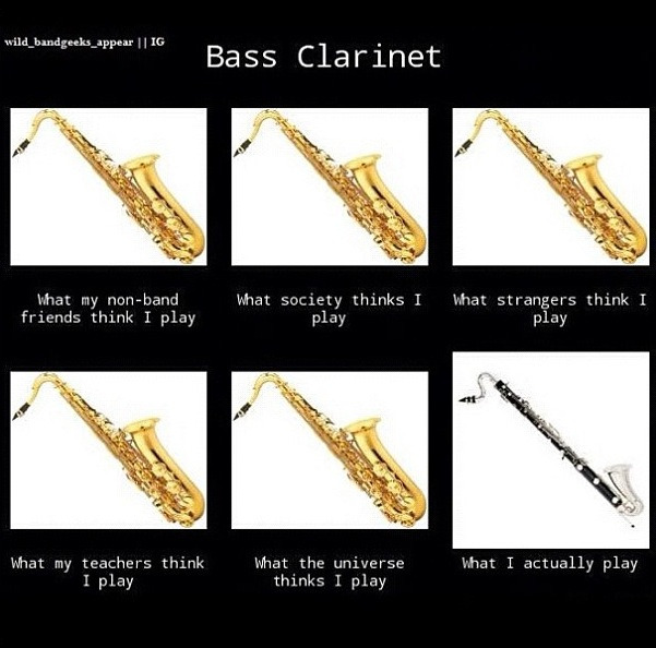 bass clarinet meme