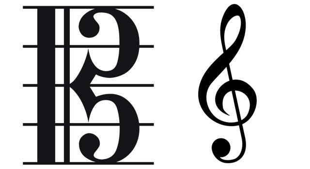 Alto and treble clef