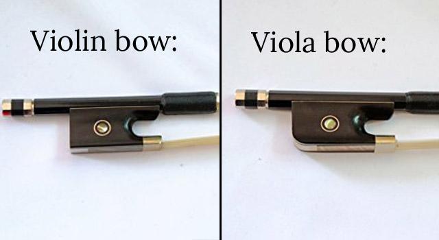 Violin or viola bow frogs