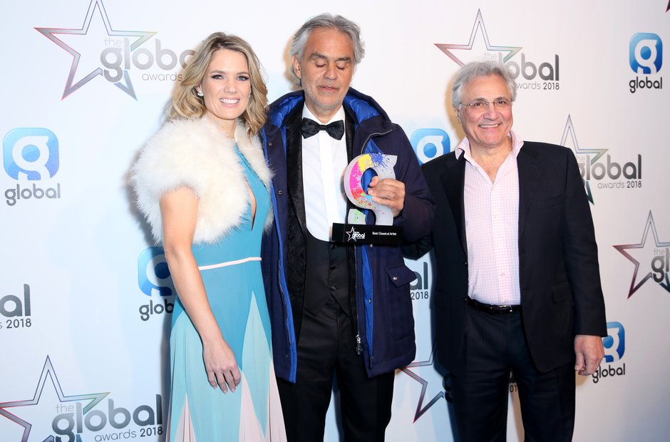 Andrea Bocelli Global Awards 2018 backstage