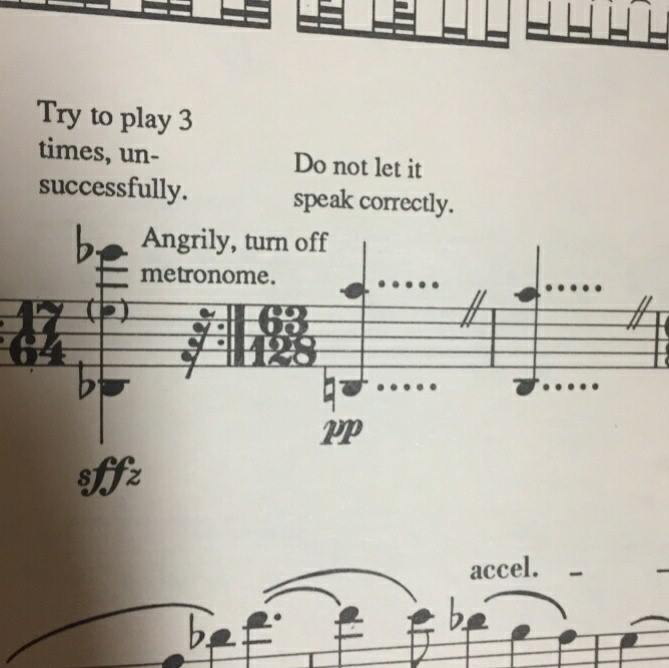 angrily turn off metronome