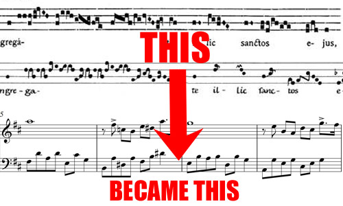 sheet music evolution