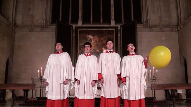 A choirboy inhaled a big gulp of helium during Allegri's Miserere – and hits the high C