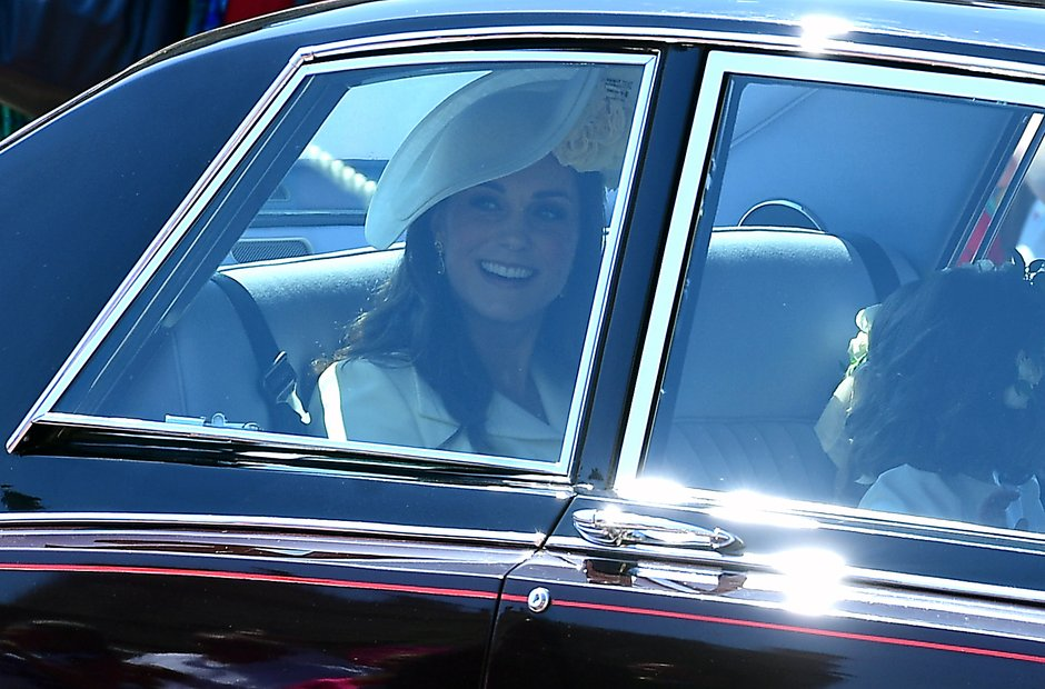 Kate Middleton Arrives At St George's Chapel