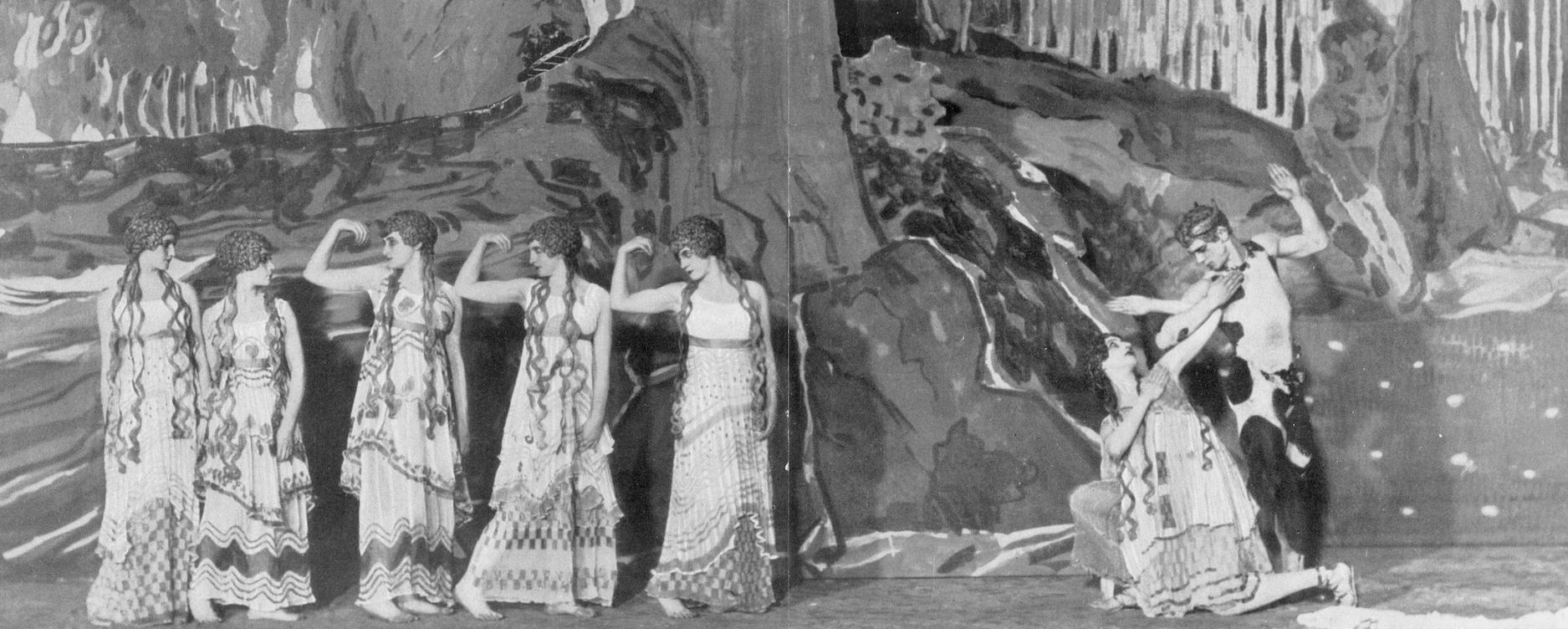 Ballet Russes in L'Apres midi d'un faune.