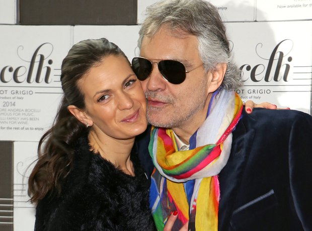 Andrea Bocelli and wife