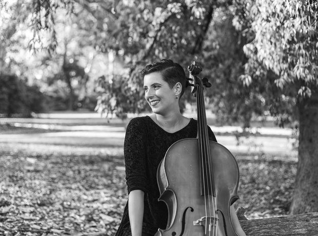 Composer and cellist Rachel Bruerville