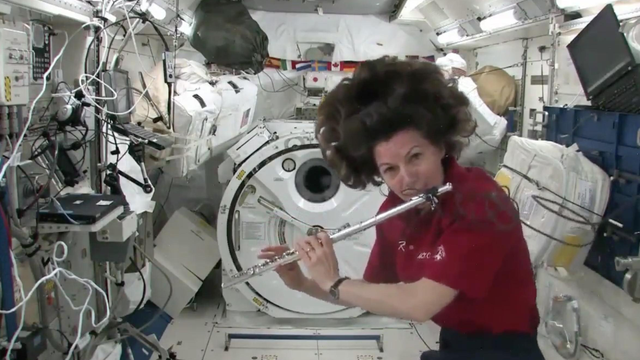 What actually happens when you play a musical instrument in space?