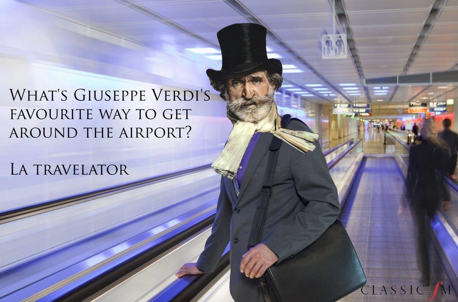 Verdi's airport adventure
