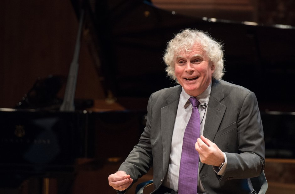 Simon Rattle at the LSO press conference