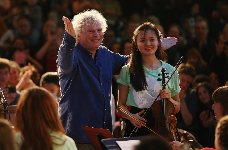 Simon Rattle conducts the Young Orchestra for Lond