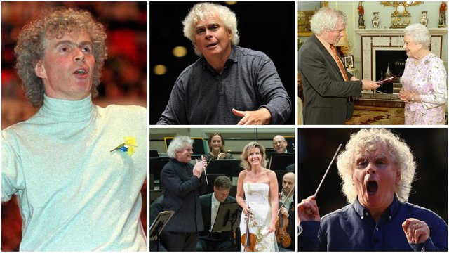 Sir Simon Rattle turns 65! Here are the most iconic pictures of the great conductor