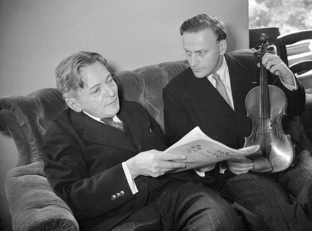Georges Enescu and Yehui Menuhin